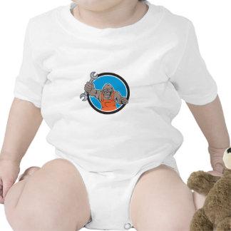 Dibujo animado enojado del círculo de la llave traje de bebé