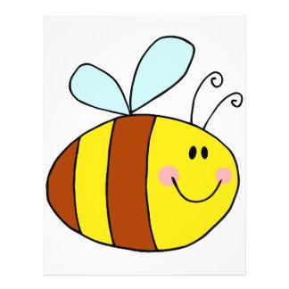 dibujo animado feliz de la abeja de la miel de la  folleto 21,6 x 28 cm