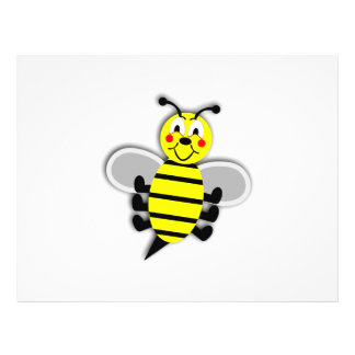 Dibujo animado feliz de la abeja tarjeta publicitaria