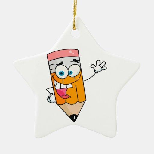 dibujo animado feliz lindo del lápiz ornamentos de navidad