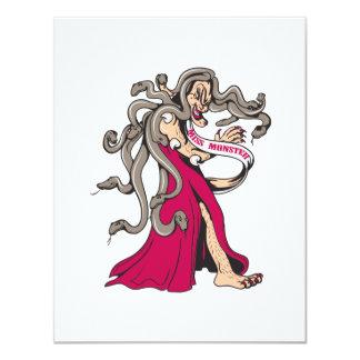dibujo animado feo del ganador del desfile del invitación 10,8 x 13,9 cm