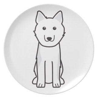 Dibujo animado finlandés del perro del perro de Po Plato De Cena