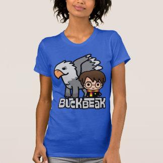Dibujo animado Harry Potter y Buckbeak Camiseta