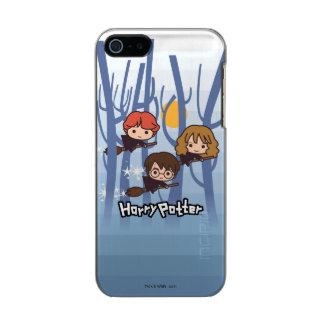 Dibujo animado Harry, Ron, y vuelo de Hermione en Carcasa De Iphone 5 Incipio Feather Shine