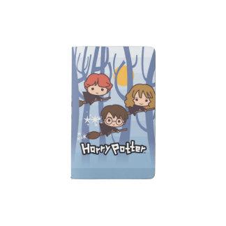 Dibujo animado Harry, Ron, y vuelo de Hermione en Cuaderno De Bolsillo Moleskine