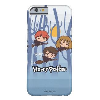 Dibujo animado Harry, Ron, y vuelo de Hermione en Funda Barely There iPhone 6