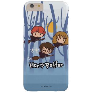 Dibujo animado Harry, Ron, y vuelo de Hermione en Funda Barely There iPhone 6 Plus