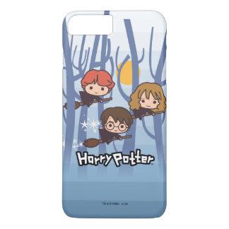Dibujo animado Harry, Ron, y vuelo de Hermione en Funda iPhone 7 Plus