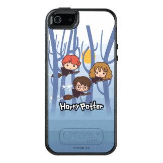 Dibujo animado Harry, Ron, y vuelo de Hermione en Funda Otterbox Para iPhone 5/5s/SE