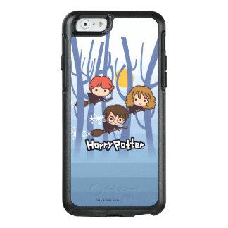 Dibujo animado Harry, Ron, y vuelo de Hermione en Funda Otterbox Para iPhone 6/6s