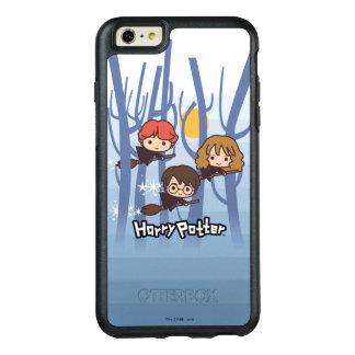 Dibujo animado Harry, Ron, y vuelo de Hermione en Funda Otterbox Para iPhone 6/6s Plus