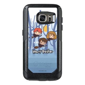 Dibujo animado Harry, Ron, y vuelo de Hermione en Funda Otterbox Para Samsung Galaxy S7