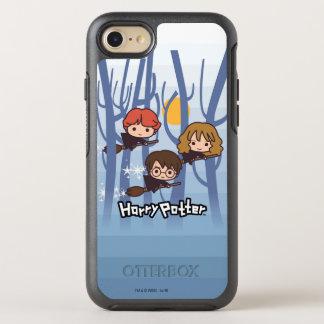 Dibujo animado Harry, Ron, y vuelo de Hermione en Funda OtterBox Symmetry Para iPhone 7