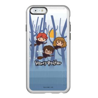 Dibujo animado Harry, Ron, y vuelo de Hermione en Funda Para iPhone 6 Plus Incipio Feather Shine