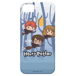 Dibujo animado Harry, Ron, y vuelo de Hermione en Funda Para iPhone SE/5/5s