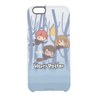 Dibujo animado Harry, Ron, y vuelo de Hermione en Funda Transparente Para iPhone 6/6S