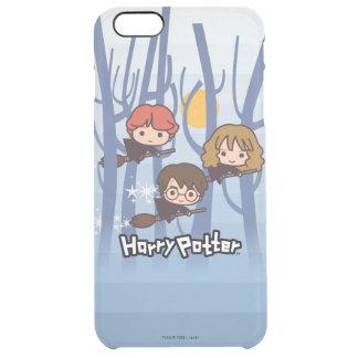 Dibujo animado Harry, Ron, y vuelo de Hermione en Funda Transparente Para iPhone 6 Plus