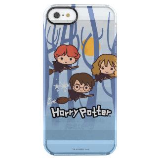 Dibujo animado Harry, Ron, y vuelo de Hermione en Funda Transparente Para iPhone SE/5/5s