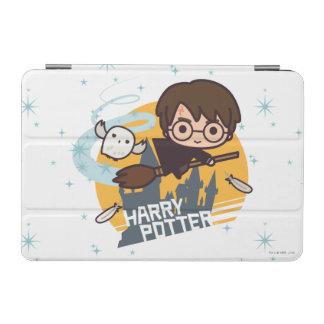 Dibujo animado Harry y vuelo de Hedwig más allá de Cubierta De iPad Mini