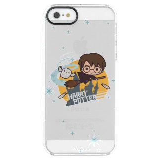 Dibujo animado Harry y vuelo de Hedwig más allá de Funda Clear Para iPhone SE/5/5s
