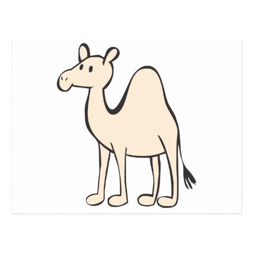 Dibujo animado joven del camello tarjeta postal | Zazzle