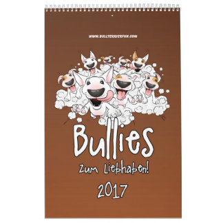 Dibujo animado-Kalender del Bullterrier Calendarios