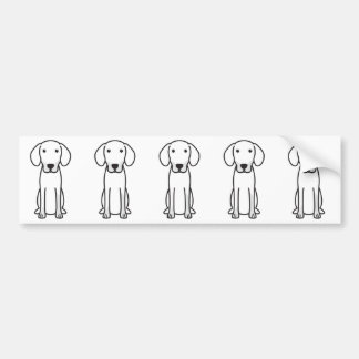Dibujo animado letón del perro de caza pegatina para coche