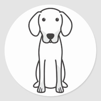 Dibujo animado letón del perro de caza pegatina redonda