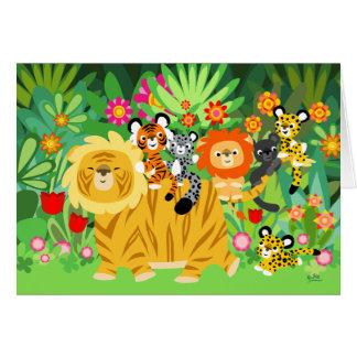 Dibujo animado Liger y tarjeta de felicitación de