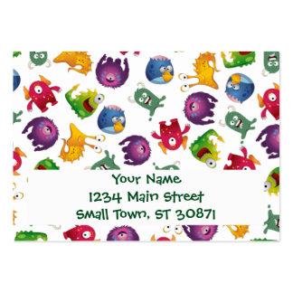 Dibujo animado lindo colorido de la diversión de tarjetas de visita grandes