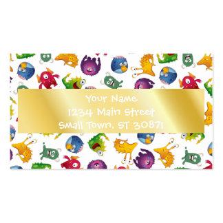 Dibujo animado lindo colorido de la diversión de tarjetas de visita