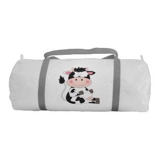Dibujo animado lindo de la vaca del bebé bolsa de deporte