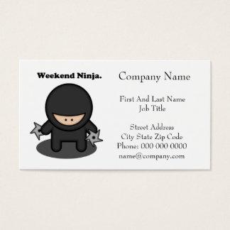 Dibujo animado lindo del combatiente de Ninja del Tarjeta De Negocios