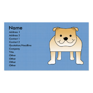 Dibujo animado lindo del dogo del cervatillo tarjetas de visita