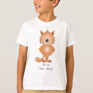 Dibujo animado lindo del gato camiseta