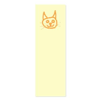 Dibujo animado lindo del gato del jengibre, en la tarjetas de visita mini