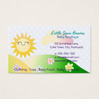 Dibujo animado lindo del kawaii del sol tarjeta de negocios