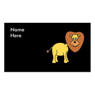 Dibujo animado lindo del león tarjeta de visita
