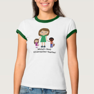 Dibujo animado lindo del mejor maestro de jardín camisetas