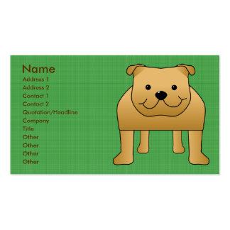 Dibujo animado lindo del perro. Dogo rojo Tarjeta Personal