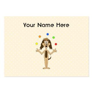 Dibujo animado lindo del perro Juglar Tarjeta De Visita