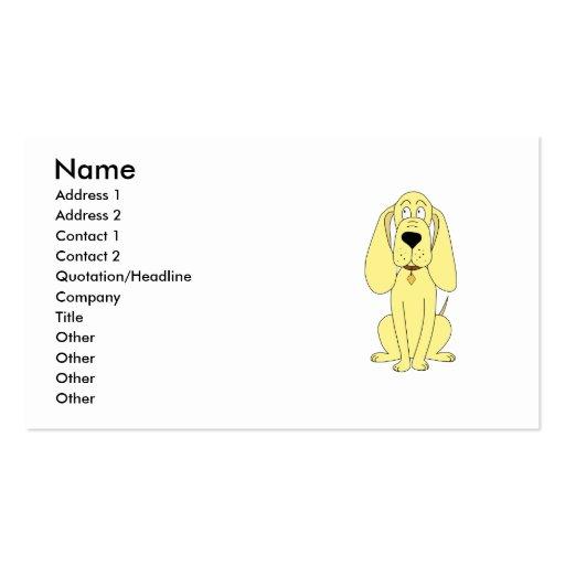 Dibujo animado lindo del perro. Perro amarillo Plantilla De Tarjeta De Negocio