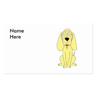 Dibujo animado lindo del perro. Perro amarillo Tarjetas Personales