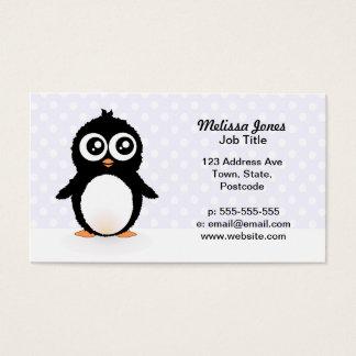 Dibujo animado lindo del pingüino tarjeta de negocios
