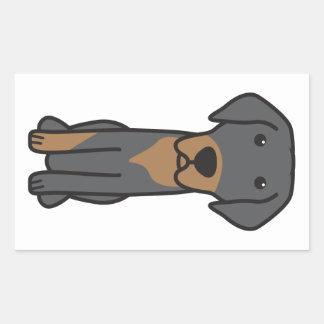 Dibujo animado lituano del perro de caza pegatina rectangular