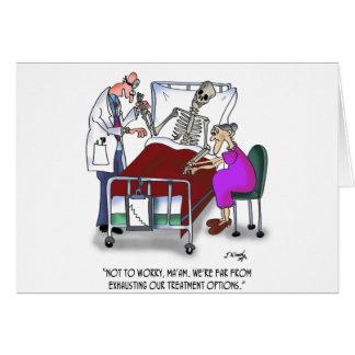 Dibujo animado médico 9378 tarjeta de felicitación