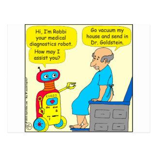 dibujo animado médico del robot de 731 postal