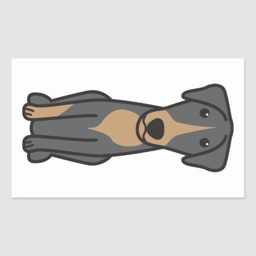 Dibujo animado montenegrino del perro de caza de rectangular altavoz