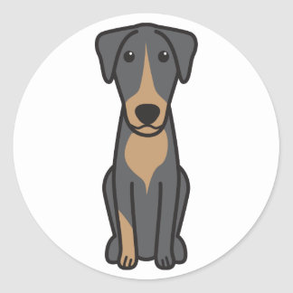 Dibujo animado montenegrino del perro de caza de pegatina redonda
