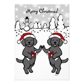 Dibujo animado negro de Labradors del navidad Anuncios